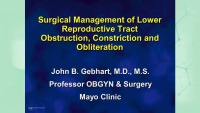 Surgical Management of the Constricted or Obliterated Vagina