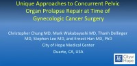 Unique Approaches to Concurrent Pelvic Organ Prolapse Repair at Time of Gynecologic Cancer Surgery